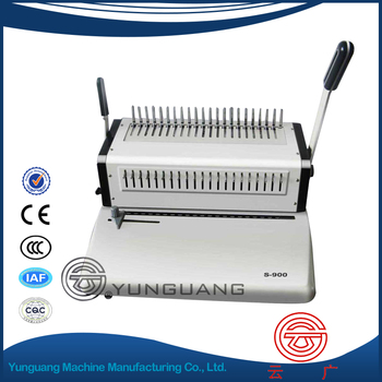 YG-S900 manual Comb Binding Machine comb binder