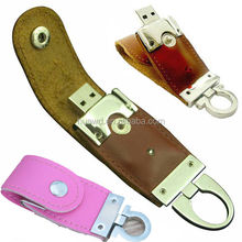 Promotional gift PU leather usb flash drive business for sale leather usb 8gb