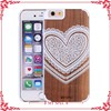 for samsung galaxy s6 wood back housing case, for cellphone wooden case