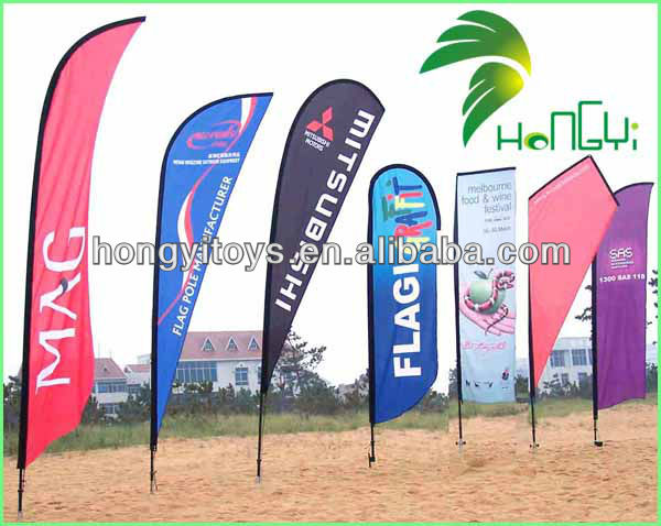 2014 latest fashion hot sale custom beach flag