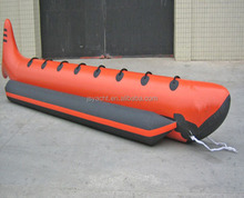 Strong quality 9 person China made inflatable watersport game banana boat 3 tubes flying towables