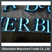size, color,shape all are customizd 12V led sign for store, shop, hotel, cinema, company, coffee shop front brand name sign