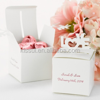 Newest wedding Bonbonniere white Pop-Up Love Favor Box For wedding candy box