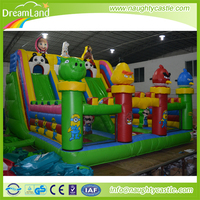 New Arrival big Inflatable castle, animal inflatable amusement park, inflatable bouncy house