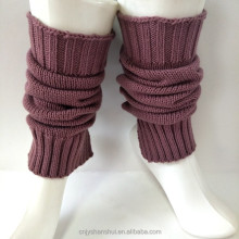 Women knit flat heart button down crochet leg warmers
