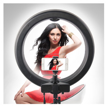 Bi- color Micro 55W Photography Ring Light RL-18 LED making up Video Light for DSLR Camera on Portrait
