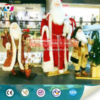 Santa claus shopping mall animated musical christmas decoration