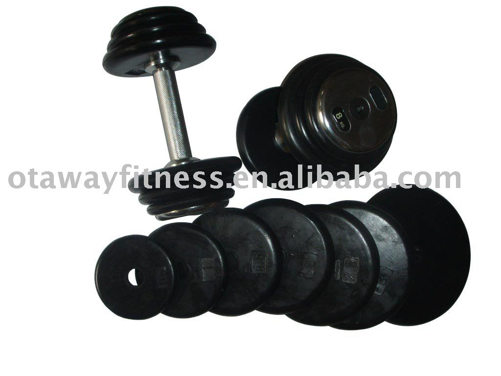 fitness colored Olympic weight plate/Dumbbell