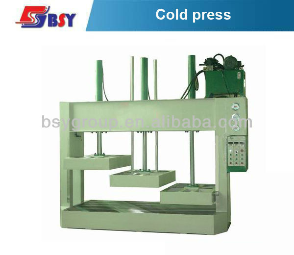 Three sections wood hydraulic cold press
