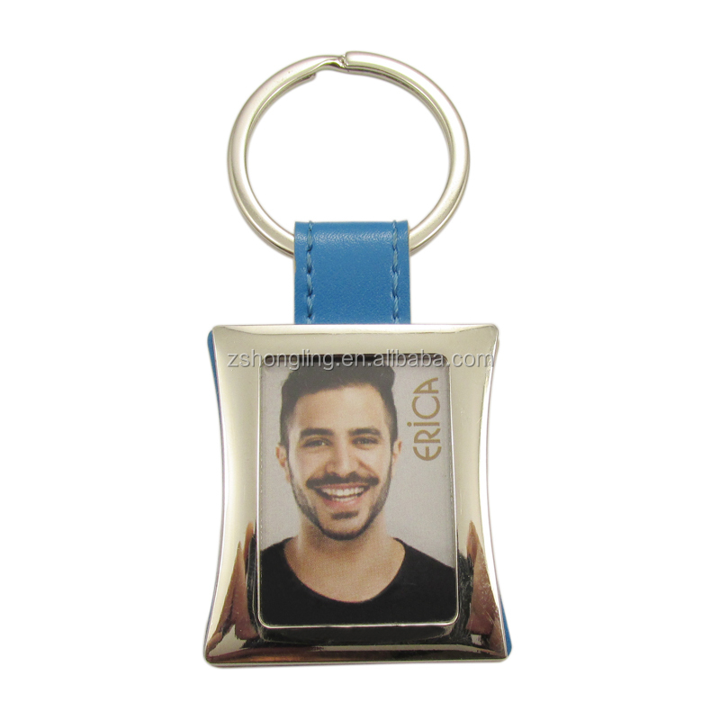 metal photo frame key chains
