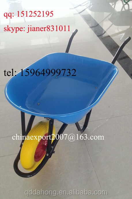 China PU Tyre Construction Wheelbarrow for South America Market WB7404
