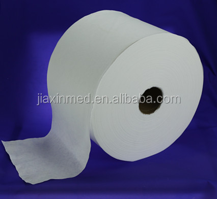 Biodegradable Spunlace Nonwoven 100% Cotton Tissue Fabric