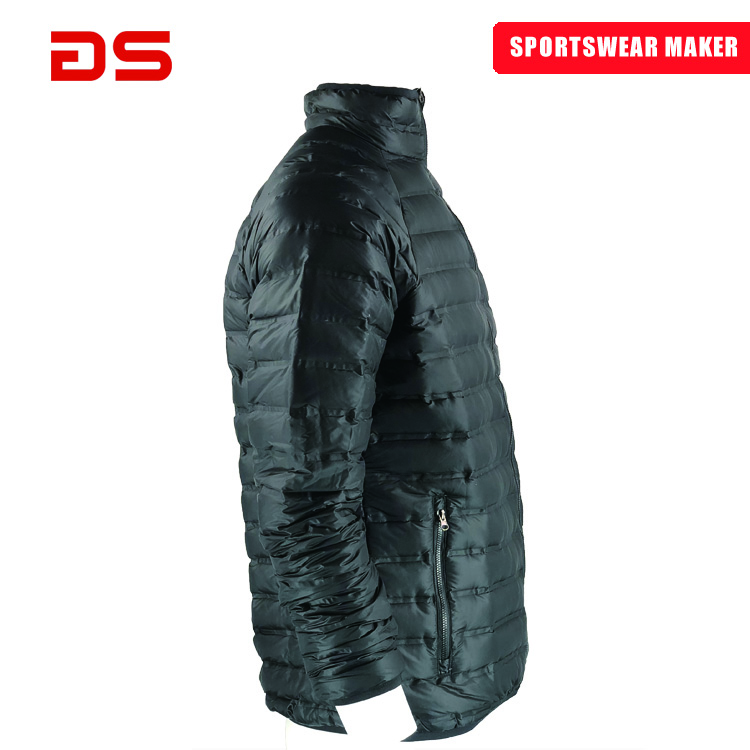 plain blank black padded diamond quilted man down jacket for the winters