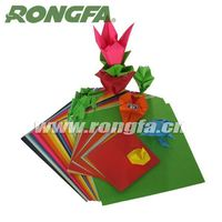 DIY handmade folding paper colorful origami quilling paper