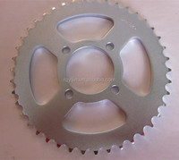 Chinese motorcycle spare parts 428 chain and sprocket kits