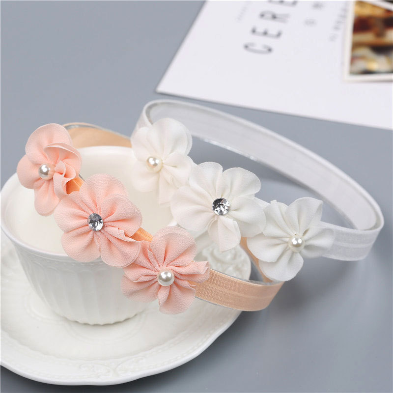X60475A Flower Children's Hairband Baby Girl's Headwear Princess Baby Newborn Elastic Hairbands