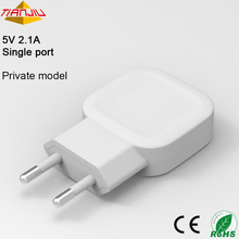 5V 2.1A Single Port Smartphone Cell Phone Travel Usb Charger Smart Usb Wall Charger