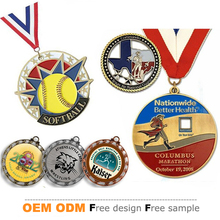 Free sample super quality antique silver 2D 3D design your own custom medal