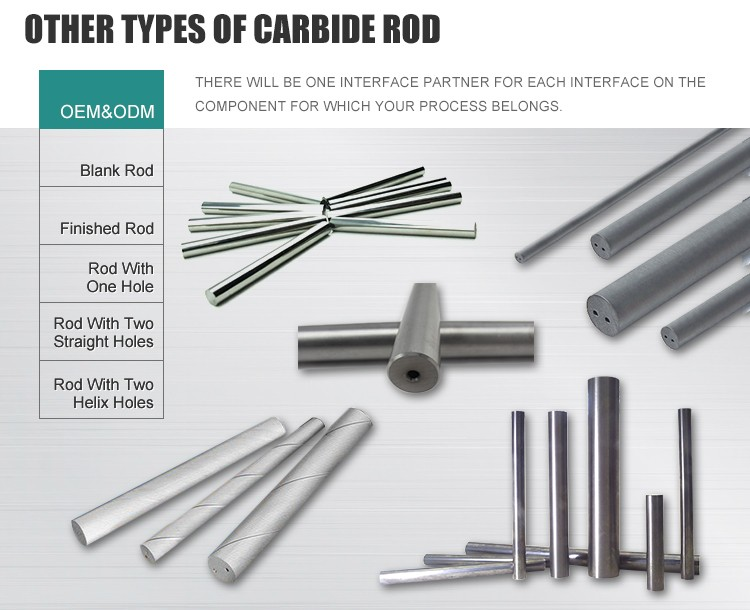 Brand new glass rods threaded rods tungsten carbide rods for cutting aluminum alloy