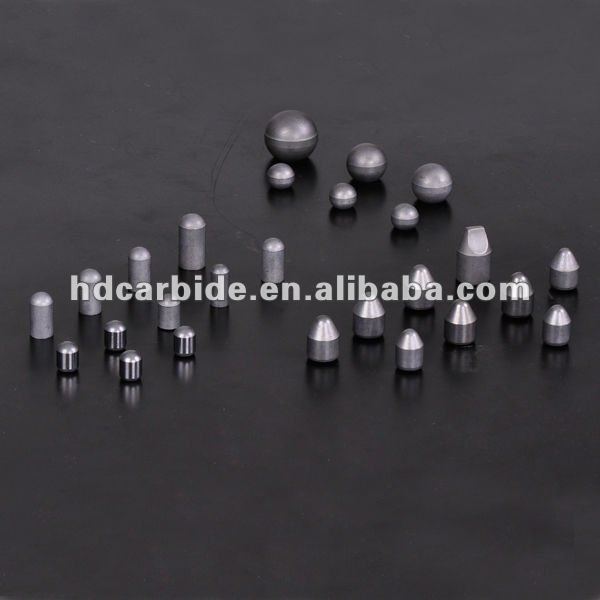 Cemented carbide inserts for mining and oil-field rock bits, carbide button inserts