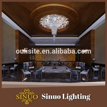 Villa hall hotel promotional round glass ceiling light covers