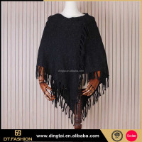 Tide fashion ladies black scarves korean shawls