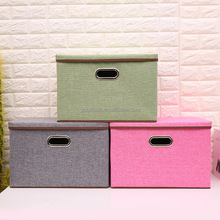 Storage Box,Fabric Collapsible Storage Containers Cloth Organizers Basket Bin helf Storage Bin with Lid and Handle