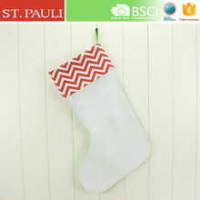 18 inch China factory price simple design Christmas decor hanging socks