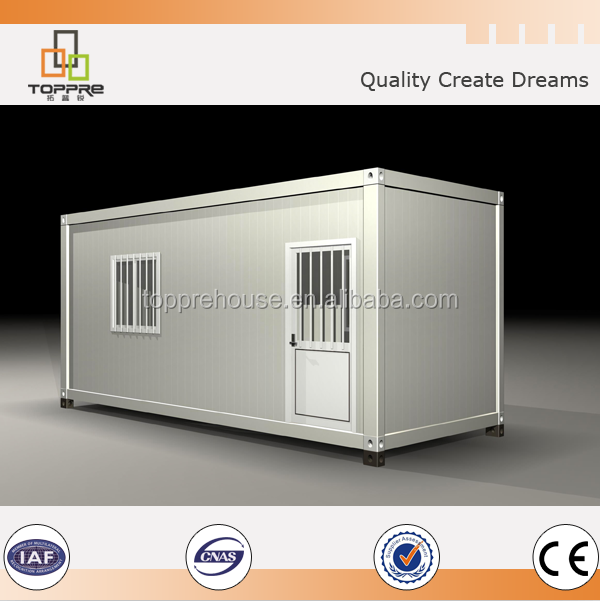 PU sandwich panel roof prefab living residential container homes for sale