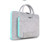 wholesale colorful felt inner laptop bag, felt cover with velcro for ipad