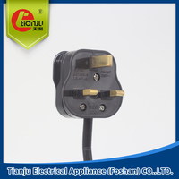 BS UK standard power plug power plug power cable power cord with certificate
