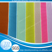 Neoprene density 6mm thickness rubber sheet fabric for blankets
