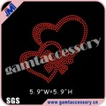 Bling crystal Hearts hot fix rhinestone transfer motif for T-shirt