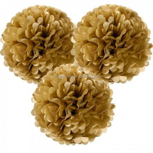 Gold And Silver Paper Pom Poms For Baby Shower Wedding Party