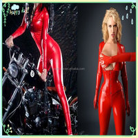 2016 Women Cheap Wholesale Sexy Tight Sexy Leather one size PVC Lingerie Suit