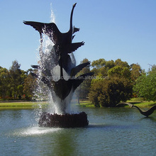 hot sale bronze crane statue large water fountain sculpture for sale