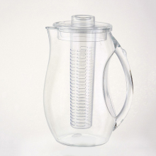 2L 2.5L 2.7L 2.8 L Fruit Infusion Beverage Pitcher with ice core and fruit infuser water jug