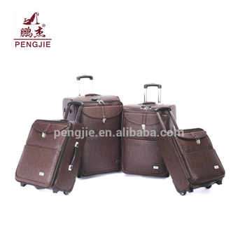2018 High Quality PU durable leather business trolley case, luggage, bag