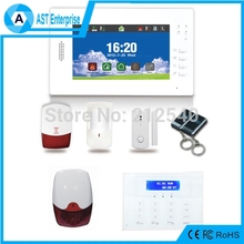 Wirless GSM Alarm 868MHZ 7 inch screen alarm with Big Outdoor Siren and LCD Keypad, Android and iOS app supported