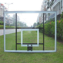 Removable decorative clear glass basketball backboard for sale