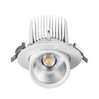 Popular 20W 5inch 115-123mm cutout gimbal recessed led light downlight