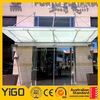 Entrance Tempered Glass door Canopy