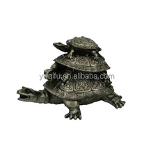 2014 Wholesale china manufacturer animal tortoise shaped alloy rhinestones metal for home decoration from yiwu qifu(QF1076X)