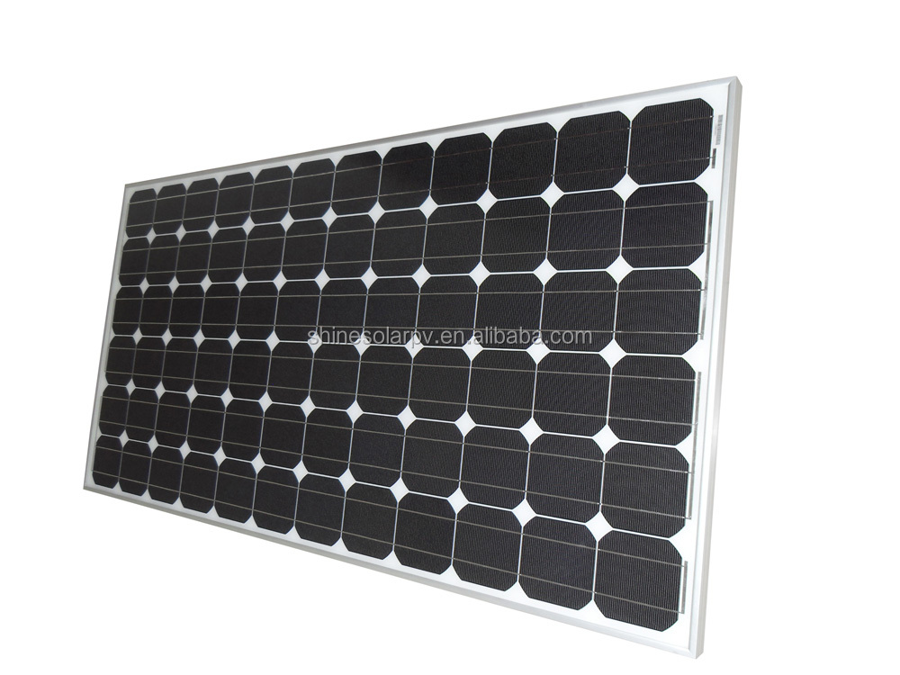 High Efficiency All Black 150W 250W 300W Mono PV solar panel manufacturers in china