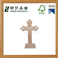 hot selling new designed unfinished holy Christian wooden cross with cheap price