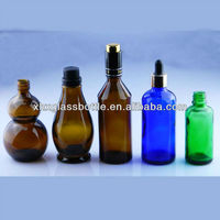 Various Colored Glass Empty Essenti Oil