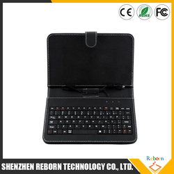 7 inch Tablet PC Leather Keyboard Case Micro USB, 7 inch Tablet PC Case with Keyboard