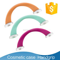 2015 new style of round ring plastic handle clutch box purse frame,plastic bag accessory,bag handle