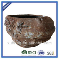 sandstone rock shape flower pots rusty finish planter wholesale planter