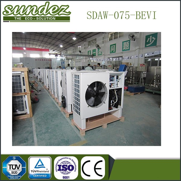 North Europe hot sale SUNDEZ high quality EVI low temperature(-25DegC) heat pump Air source heating
